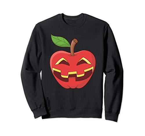Apfel Halloween Kostüm Jackolantern Apfel-Laterne Geschenk Sweatshirt