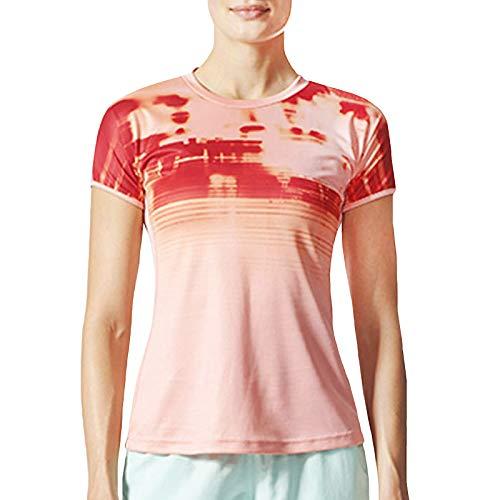 adidas Performance - Maglietta da badminton a maniche corte, da donna, taglia XS, colore: Rosa