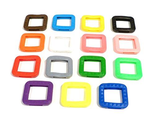 REMA Schlüsselkappen für eckige Schlüssel 25 mm x 25 mm Einzelnt und als 10er Sets (15 Kappen, 15 Verschiedene Kappen)