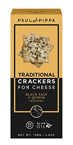 Crackers de sal negra gourmet para quesos