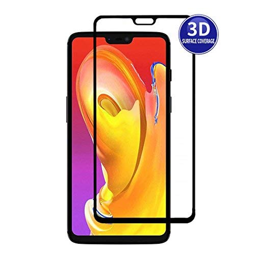 X-Dision OnePlus 6 (Black) 3D Protective Film Full Screen Protector HD Complete Cover 3D Premium Hardening Glass Protection, Fingerprint Resistant and Anti-Shatter