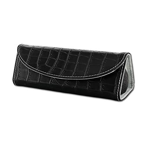 SilberDream Reise-Etui Schmuck Leder schwarz Croco Schmucketui glänzend D2LB173S ein Geschenk zu Weihnachten, Geburtstag, Valentinstag für die Frau