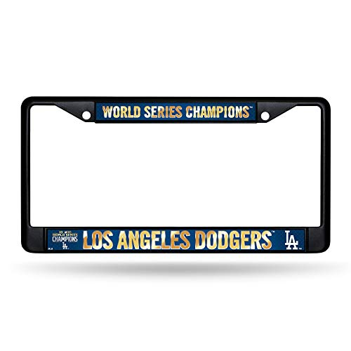 Rico Industries, Inc Los Angeles Dodgers Black Metal 2020 World Series Champions License Plate Frame Auto Car Truck