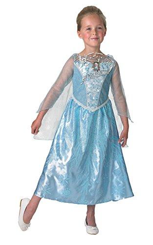 Rubies Déguisement pour Enfant Elsa de Frozen Disney Lumineux et Musical Taille M