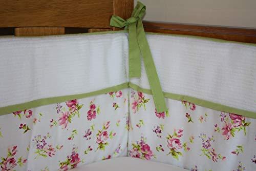 Cama de bebé vintage para cuna/cuna/Floral/Rosa