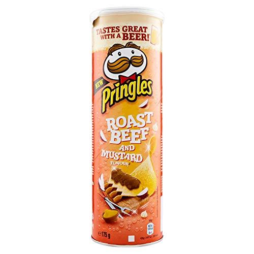 Pringles Roast Beef and Mustard flavour Kartoffel chips Rindfleisch und Senf salziger Snack 175g