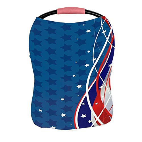 Great Deal! ABPHQTO Stars and Stripes Fourth of July Patriotic Nursing Cover Baby Breastfeeding Infa...