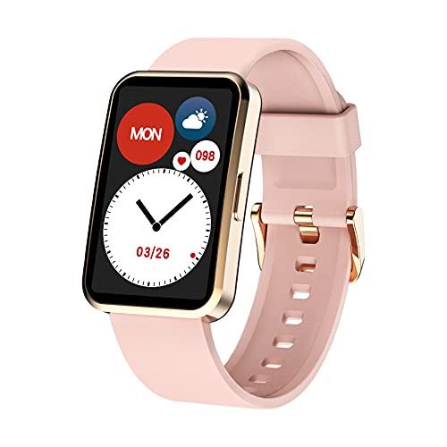 IOWODO R5 Smartwatch Uomo Donna Orologio Fitness Tracker,Saturimetro (SpO2),Cardiofrequenzimetro,Impermeabile IP68,24 Modalità Sport,Modalità Nuoto,Meteo,Cronometro,Smart Watch per Android iOS