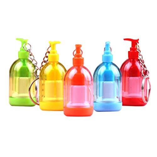 TOYANDONA 10 Piezas Bolígrafo Creativo Desinfectante de Manos Retráctil en Forma de Bolígrafo Gel Bolígrafo Papelería para Niños Estudiante Color Color Aleatorio)