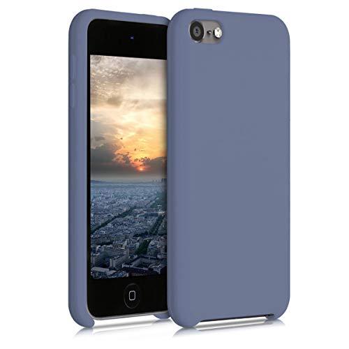 kwmobile Back-Cover Compatibile con Apple iPod Touch 6G   7G (6a e 7a Generazione) Back Cover Soft Case gommata in Morbido Silicone TPU - Denim