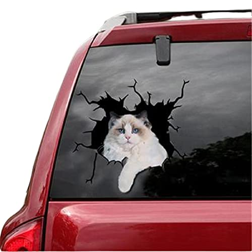 Cute Cats Pattern Car Stickers,Adhesive Simulation Animal Kitten Electrostatic Sticker Decor Ornament,for Home Car Glass Window Decoration,30x20cm