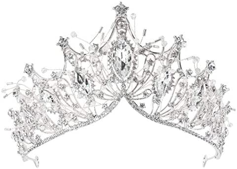 COCIDE Silver Crown for Women Baroque Queen Crown and Tiara for Women Crystal Headband Mermaid product image