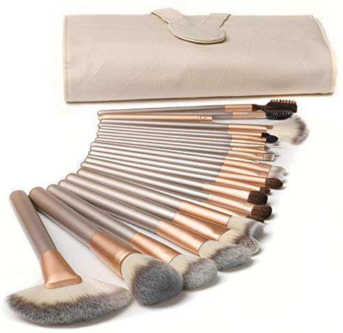Brush Sets SWZXY Makeup, Makeup 18 Pcs Professional Premium Makeup Brushes for Kabuki Foundation Powder Cosmetic Brushes Kit Blending Blush wtih PU Leather Carry Bag
