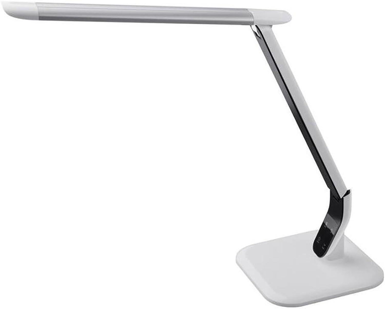XINYE LED Schreibtischlampe Berühren Empfindlich Steuerung Leseleuchte Augenpflege 3 Farbe Modi 5 Ebenen Dimmer Tischlampe, 10W, Silber