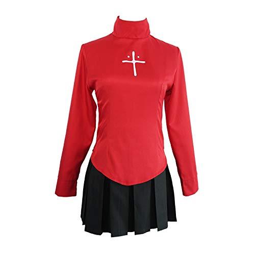 Anime Fate Stay Night Tohsaka Rin uniforme camisa y falda, disfraz de cosplay Fate Zero mujeres Halloween fiesta vestido