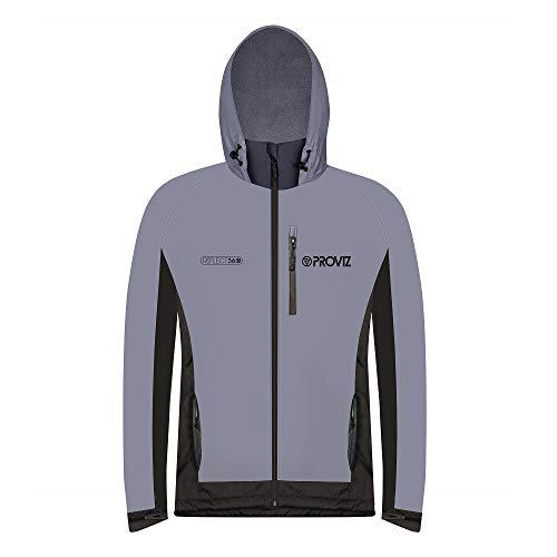 Proviz Männer REFLECT360 Fleece-Lined 100% reflektierende und wasserdichte Outdoor-Jacke