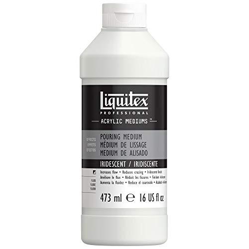 Liquitex Profesional - médium de efectos - Pouring medium, mediúm para verter o de alisado profesional, 473 ml, acabado iridiscente
