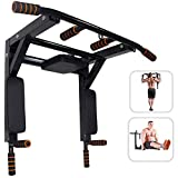 Wall Mounted Pull Up Bar, Chin Up Bar Dip Station Pull Up Bar for Home Gym Workout, Power Tower Exercise Strength...