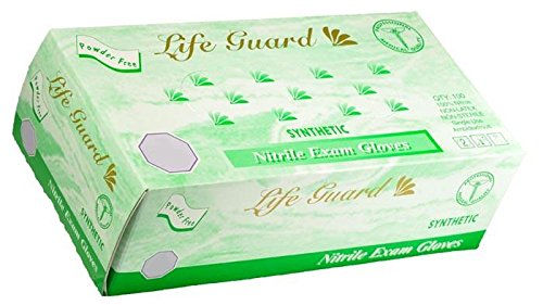 Life Guard - Nitrile Medical Exam Gloves, Powder Free - Box - size: Small