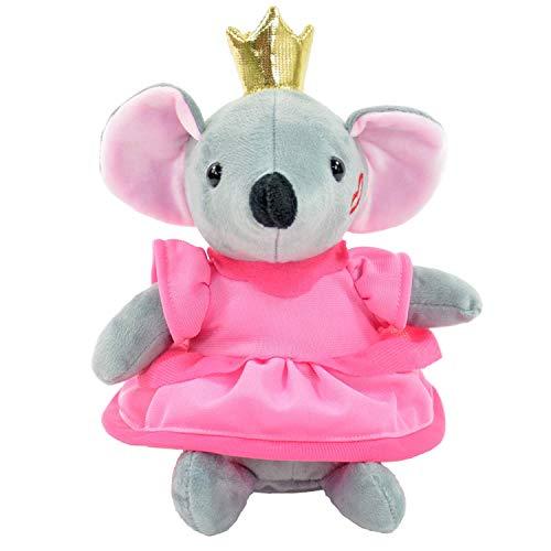 Kögler 75941 - Laber Maus Prinzessin Sophia, Labertier mit Aufnahme- und Wiedergabefunktion, plappert alles witzig nach und bewegt sich, ca. 21,5 cm groß, ideal als Geschenk für Jungen und Mädchen