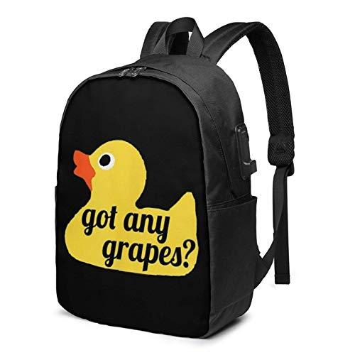 Hdadwy Erhalten Sie jeden Gra PES robusten Laptop-Reiserucksack College-Büchertasche mit USB-Ladeanschluss für 17-Zoll-Laptops Unisex