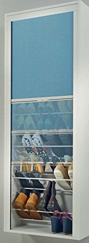Maconi – Chaussures série Roll Mod. 825, Finition Structure Blanc, Finition Rideau de Fermeture Gris