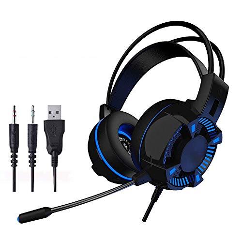 NOCTIC Casque de Jeu pour Casque de Jeu PS4, Casque Xbox One avec Micro antibruit Compatible avec Xbox One, PS4, commutateur Nintendo, Jeux PC Mac-3.5audio