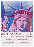 ポスター アンディ ウォーホル 10 Statues of Liberty 1986 額装品 アルミ製ベーシックフレーム(ホワイト)