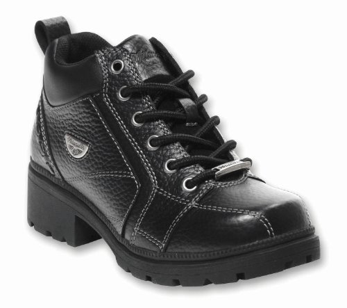 Milwaukee Motorcycle Clothing Company Womens Deceiver Boots (Black, Size 7.5)