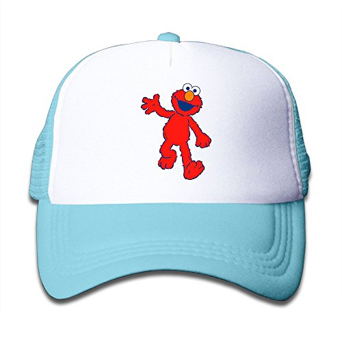 Grace Little Elmo's World Youth Outdoor Mesh Hat Cross-country Sanpback Cap Hat Adjustable SkyBlue
