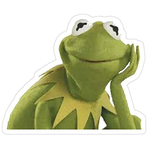 DKISEE 3 Stück Aufkleber Sassy Kermit, Kermit Aufkleber für Laptop, Telefon, Autos, Vinyl Lustige Aufkleber Aufkleber Aufkleber für Laptops, Gitarre, Kühlschrank 10,2 cm