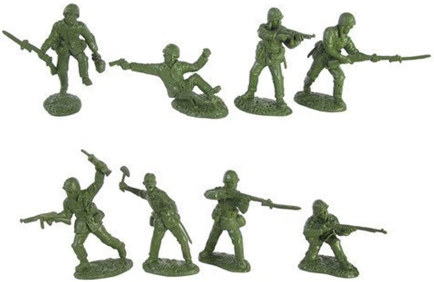 WWII United States Marines Plastic Green Army Men  16 piece set of 54mm Figures  1 32 scale by Toy Soldiers of San Diego