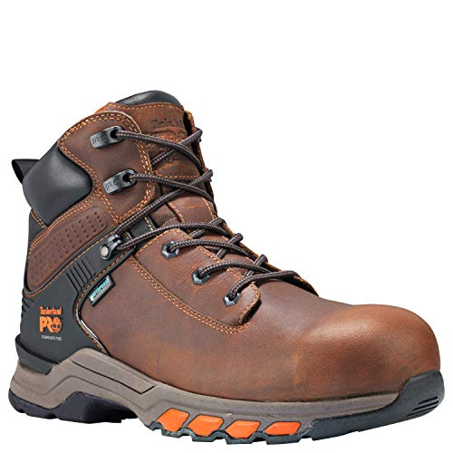 Timberland PRO Men's Hypercharge 6' Composite Toe Waterproof Industrial Boot, Brown Full Grain Leather, 10.5 M US