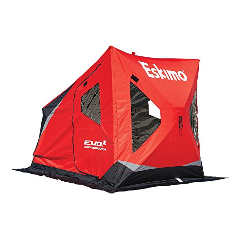 Eskimo Evo 22100 Evo1 Portable Flip Style Ice Shelter with Pop Up Hub Sides, 1 Person