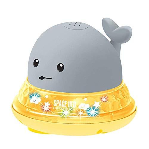 LIUCHANG Bad Spielzeug, Sommer Spaß Aufblasbare Sprinkler, Wasser Spray Ball, Elektrische Induktion Wasser Wal Spielzeug Badewanne Puppe Fisch Wasser Spielzeug for Kinder liuchang20 (Color : Gray)