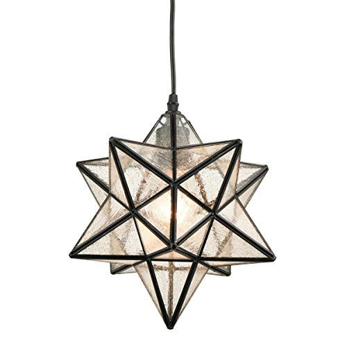 DANXU Seeded Glass Shade Industrial Moravian Star Light...