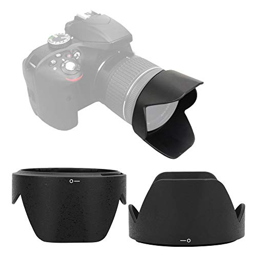 Yunir Paraluce, HB-N106 Durevole Sostituzione del paraluce per Fotocamera per obiettivi Nikon 18-55mm f/3.5-5.6G VR