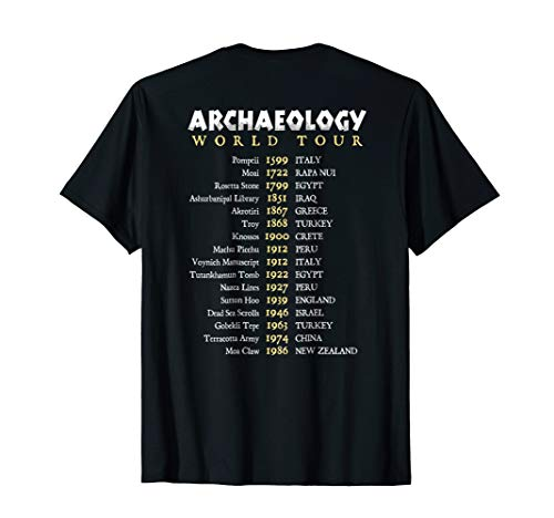 Archaeologist World Tour Funny Text T-shirt