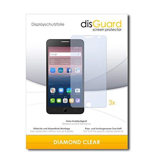 disGuard 3 x Schutzfolie Alcatel One Touch Pop Star 3G Bildschirmschutz Folie DiamondClear unsichtbar