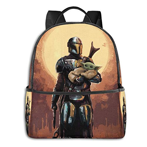 Baby Yoda The Mandalorian Backpack, for Teen Students Boys and Girls Book Travel Camping.