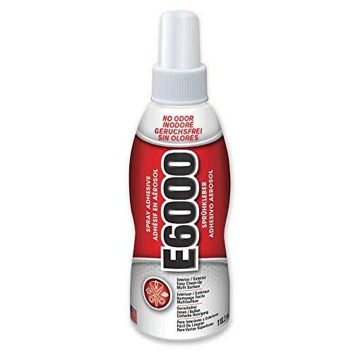 E6000 Pumpsprühkleber, klar, stark, flexibel, wasserabweisend, fotosicher, 118 ml