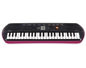 Casio SA-78 Mini Tastiera polifonica ad 8 Voci e 44 tasti, Nero/Rosa