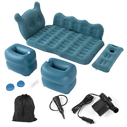 Letto gonfiabile per sedile posteriore, 170 x 100 cm, materasso gonfiabile da auto pieghevole con pompa ad aria e cuscino per viaggi, campeggio, carico 150 kg