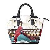 Flyup Tote Bags Handtasche für Frauen imobaby Elegant Japanese Geisha PU Leather Girls Top-Handle...