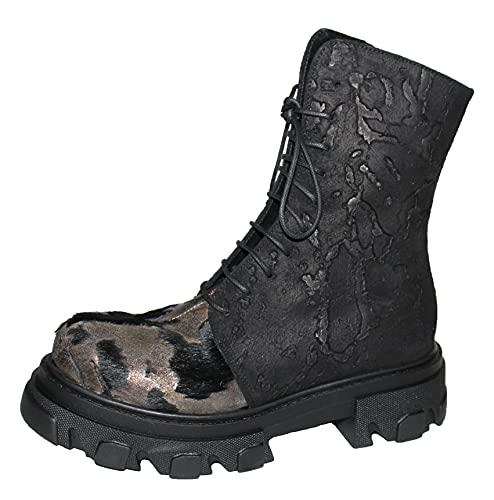 Papucei Stiefel Boots Leder Matia - Animal Print Black