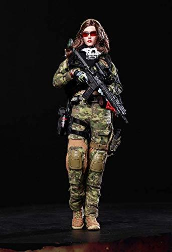 1/6 Figura de acción de ángel de Guerra Hunter Angela Soldier muñeca de Juguete para coleccionista fotografía y Arte