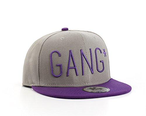 """Underground Kulture """" Gang ☆ Violet et Gris Casquette Snapback de Baseball"""
