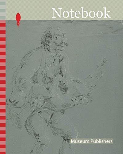 [画像:Notebook: Man Carrying a Dead Dog, n.d., Pierre-Jacques Volaire, French, 1729-1799, France, Black and white chalk, on blue-gray prepared ground, on ivory laid paper]