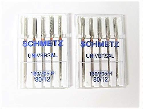 Read About ID: 705H-12. 10 New Schmetz Universal Needles, Size 80/12, (2 Packs of 5 Needles), Compat...