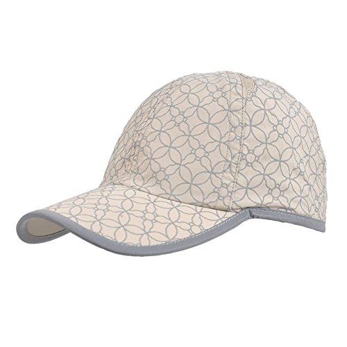 Kenmont Sommer Frauen Lady Outdoor UV Baseball Cap Sport Sonne Visier Hat Gr. One Size, Khaki